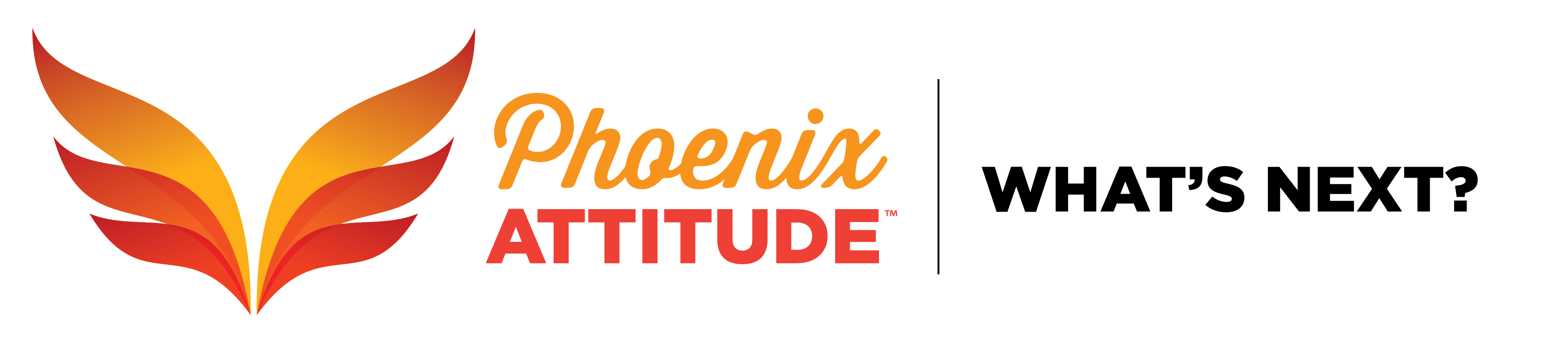 Phoenix Attitude logo, tagline, What's Next?